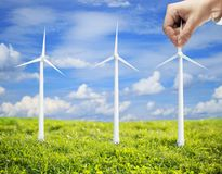 Eco wind turbine Royalty Free Stock Image