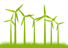 Eco-Windkraftanlagen Stockbild