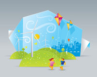 Eco-Windmühlen Lizenzfreies Stockfoto