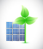 Eco windmill and solar panel illustration design Royalty Free Stock Photography