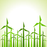 Eco windmills background Royalty Free Stock Images