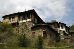 Eco wioska w Rodopi górach, Bułgaria Zdjęcia Royalty Free