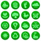 ECO. Wooden environment icons set Royalty Free Stock Image