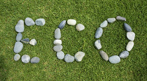 ECO word arranged using pebble stone. Stock Image