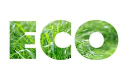 ECO word concept Royalty Free Stock Photography