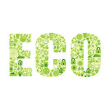 Eco word Stock Image