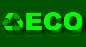 Eco word over green grass Royalty Free Stock Photos