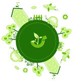 Eco world. A illustration of eco concept design Royalty Free Stock Image