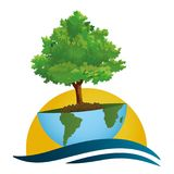 Let us save the planet! A green world on an ecological concept. ECO world on a concept in the ecological colors - For company Stock Photography