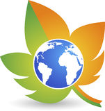 Eco world logo Stock Photo