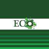 Eco-Wort für Hintergrundillustration Stockfotos