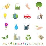 Eco y símbolos verdes del ambiente Imagen de archivo
