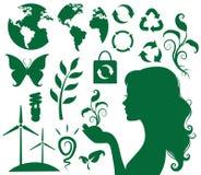 Eco y verde libre illustration