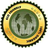 Eco życzliwa etykietka Zdjęcie Stock