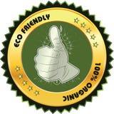 Eco życzliwa ikona Zdjęcia Royalty Free