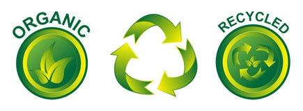 Eco Życzliwe ikony Obrazy Royalty Free