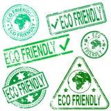 Eco Życzliwi znaczki Zdjęcia Royalty Free