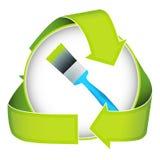 eco życzliwy zielony farby domycie Fotografia Stock
