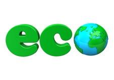 Eco Zeichen Lizenzfreies Stockbild