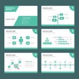 ECO zielonego wielocelowego infographic elementu płaski projekt ustawia dla prezentaci Zdjęcie Stock