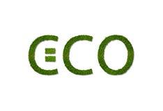 eco zielony odosobniony liść foki kształta znaka wosku biel Obrazy Royalty Free