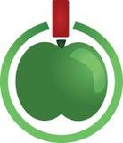 eco zielony odosobniony liść foki kształta znaka wosku biel Zdjęcia Royalty Free