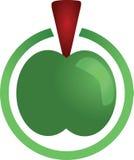 eco zielony odosobniony liść foki kształta znaka wosku biel Zdjęcie Stock
