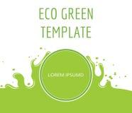 Eco zielony organicznie naturalny szablon Fotografia Stock
