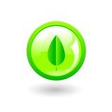 eco zielony przycisk Zdjęcia Royalty Free