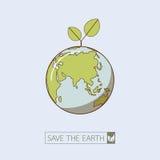 Eco ziemia w retro stylu Zdjęcia Royalty Free