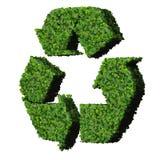 Eco znak robić od zieleń liści odizolowywających na białym tle 3 d czynią Zdjęcie Royalty Free