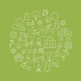 Ecoachtergrond die - de Planeet bewaren Royalty-vrije Stock Afbeeldingen