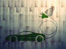 Ecoauto aan boord van b1 stock foto's