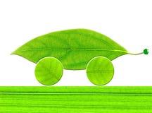 Ecoauto van het blad Royalty-vrije Stock Afbeeldingen