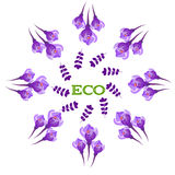 Ecobanner, etiket Royalty-vrije Stock Afbeelding