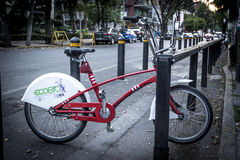 Ecobici city bikes at Mexico City Stock Images