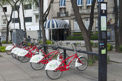 Ecobici station Royalty Free Stock Images