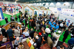Ecobuild 2013 in Londen Stock Fotografie