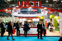 Businessmen visit a business fair in the UK Stock Photography
