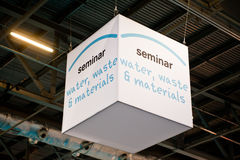 Water, waste and materials seminar banner Royalty Free Stock Image