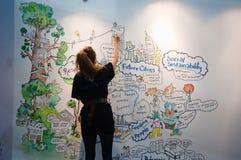 Ecobuild 2013 i London royaltyfri fotografi