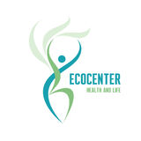 Ecocenter - Healthcare & Life Logo Sign Royalty Free Stock Photos