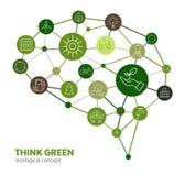 Ecoconcept - denk Groen Royalty-vrije Stock Afbeeldingen