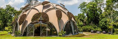 Ecodome in Botanical gardens Kebun Raya in Bogor, West Java, Ind. Onesia. A present from the Dutch goverment Royalty Free Stock Photos