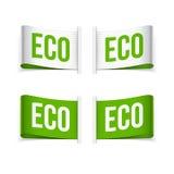Eco和Eco产品标签 库存图片