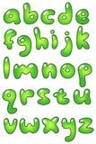 ecoen för alfabetbubblafall fäller ned Royaltyfri Fotografi