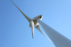 Ecoenergy, windturbine against blue sky Stock Image