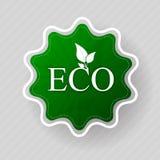 Ecoetiket van organische natuurvoeding Stock Afbeelding