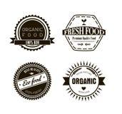 Ecoetiketten in uitstekende retro stijl, vectorillustratie Royalty-vrije Stock Afbeeldingen