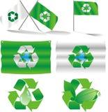 ecoflaggor Royaltyfri Illustrationer